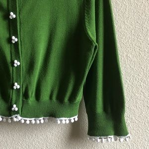 Anthropologie Vintage Glass Button Cropped Cardi